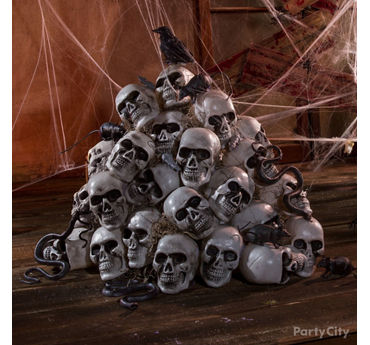 Haunted House Skulls and Crow Idea