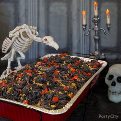 Savory Halloween Squid Ink Pasta Recipe