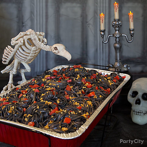Halloween Scary Squid Ink Pasta Recipe Party City