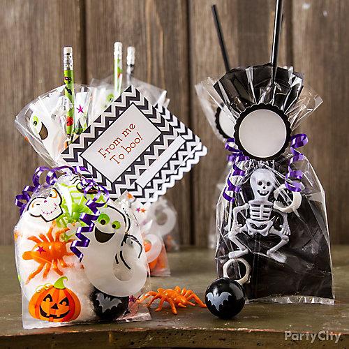 Candy Free Halloween Favors Idea