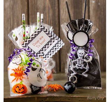Candy Free Halloween Favors Idea