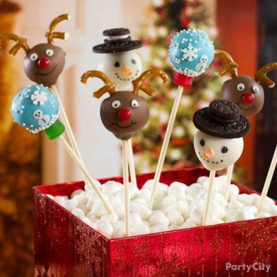 Cake Pop Christmas Decorating Ideas : Beribboned Holiday Cake Pops Idea - Party City
