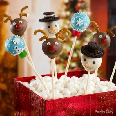 Cake Pop Decorating Christmas : Cute Christmas Cake Pops How To - Party City