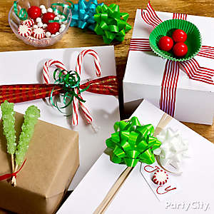 Holiday Candy Gift Wrap DIY