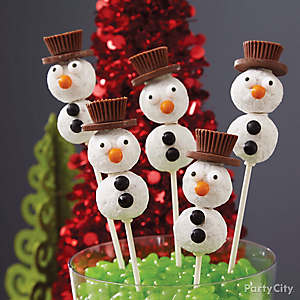Doughnut Hole Snowman Pops How To