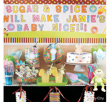 Gender Neutral Baby Shower Treats Table Idea