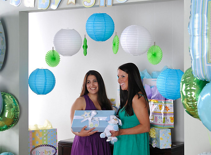 Baby shower decorating ideas party city for Baby welcome home decoration