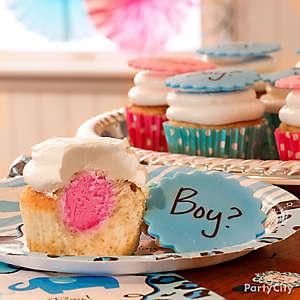 Gender Reveal Cupcake Idea