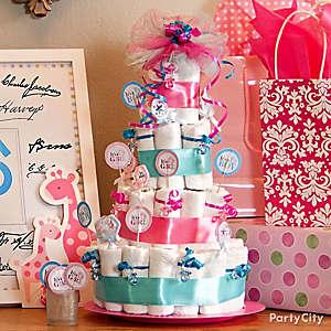 Gender Reveal Diaper Cake Game Idea