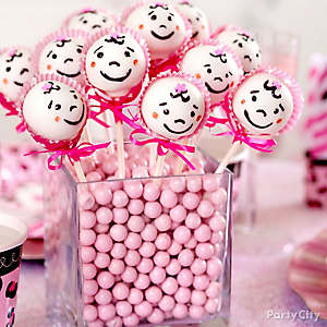 Girl Baby Shower Cake Cake Pop Bouquet Idea