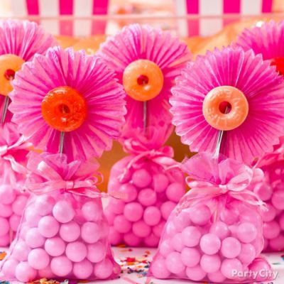 DIY Life Saver Candy Flowers How To