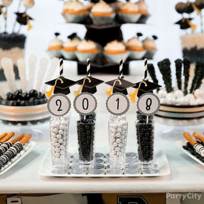 Graduation Year Candy Cups Idea