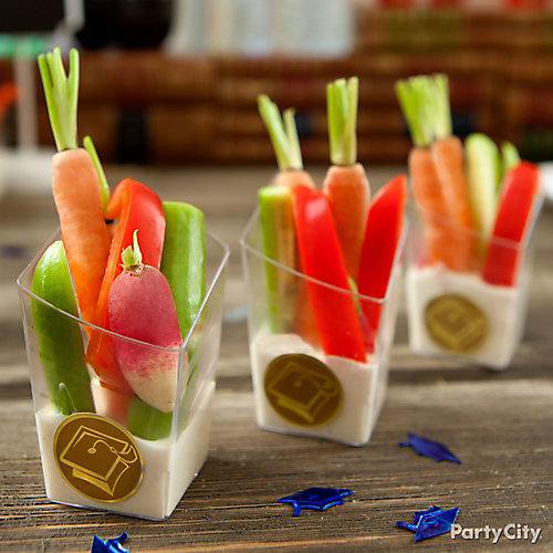 Mini Veggies & Ranch Dip Cups Idea