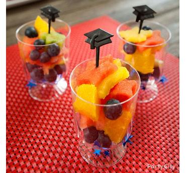 Star Shaped Grad Pick Fruit Cups Idea