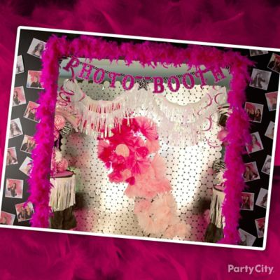 Pink and Zebra Photo Booth Backdrop Idea