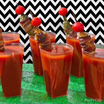 Bloody Mary Bacon Skewer Idea