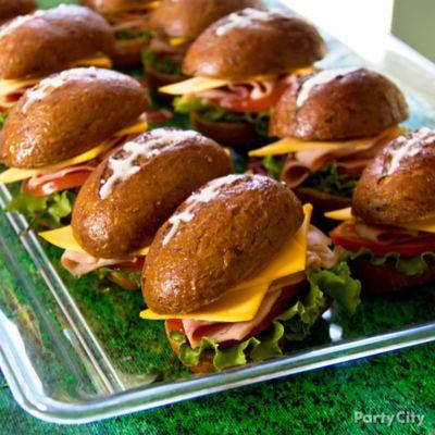 Football Sandwiches Idea