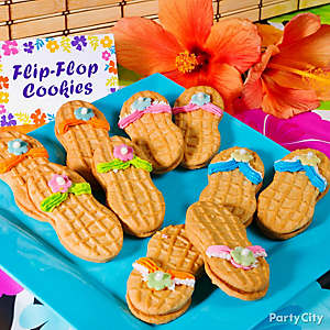 Tropical Nutter Butter Flip Flop Cookies Idea