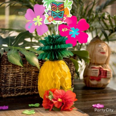 Paper Pineapple Centerpiece Idea