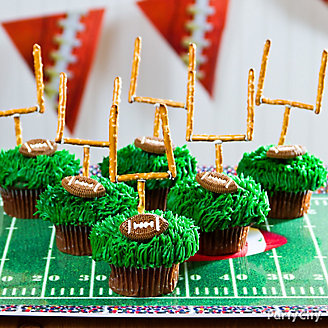 Football Goalpost Cupcakes Idea