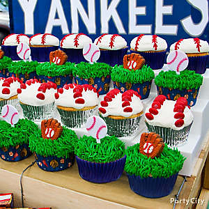 Baseball Cupcakes Idea