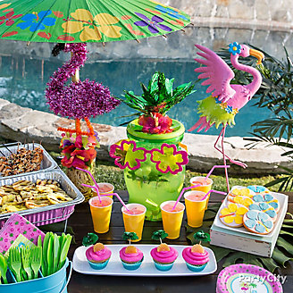 Flamingo Summer Pool Party Ideas