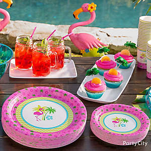 Flamingo Place Settings Idea