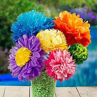 DIY Tissue Paper Flower Bouquet Idea