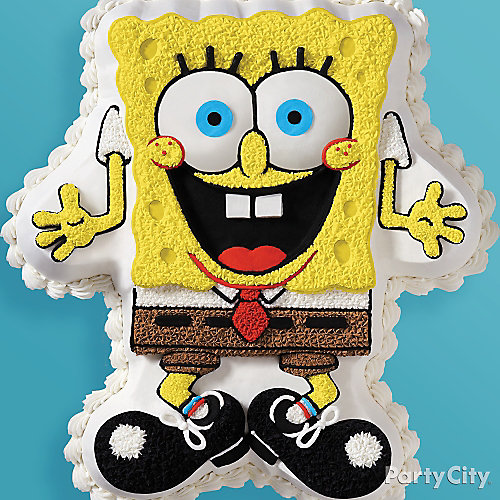 SpongeBob Frosted Cake How To