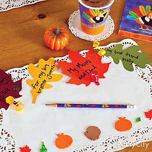 Thanksgiving Placemat Idea