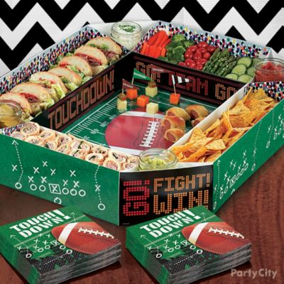 Football Stadium Snack Tray Idea