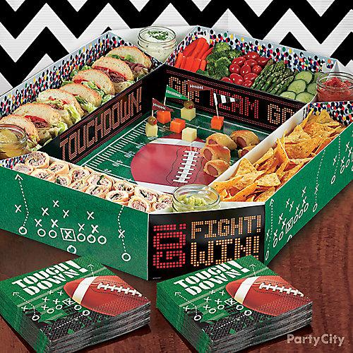 Football Stadium Snack Tray Idea