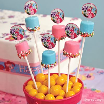 My Little Pony Marshmallow Pops How To