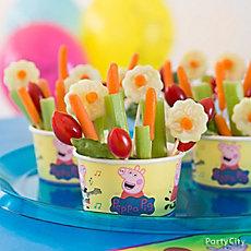 Peppa Pig Garden Veggie Cup Idea