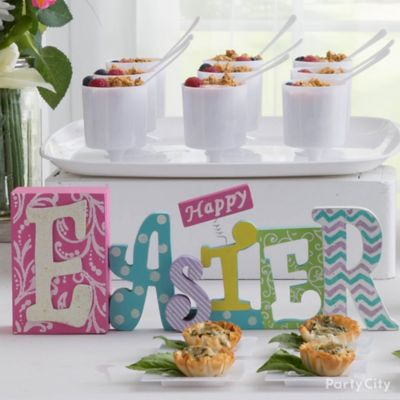 Easter Sign Buffet Idea