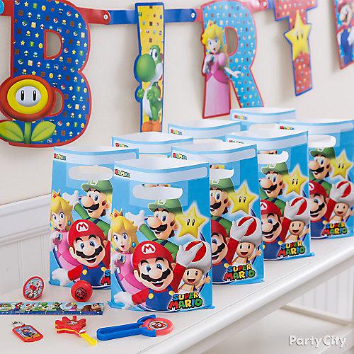 Super Mario Favor Pack for 8 Idea