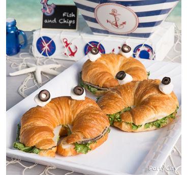 Crab Croissant Sandwich Idea