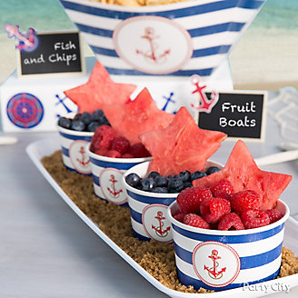 Nautical Fruit Cup Idea
