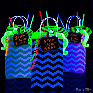 Grab Your Glow Favor Bags Idea