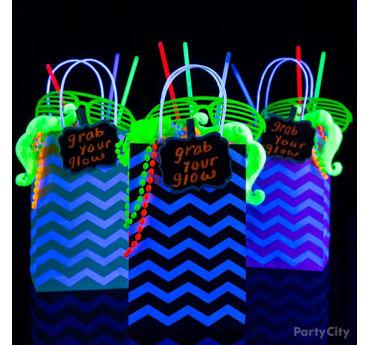 Grab Your Glow Favor Bags Idea