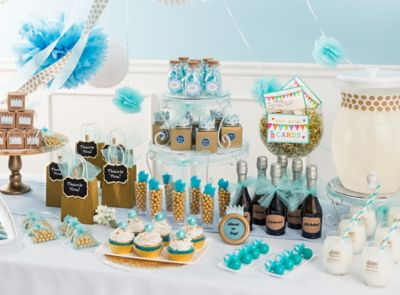 Baby shower ideas baby shower party ideas party city for Baby shower decoration store