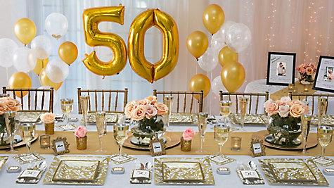 Golden Anniversary Place Setting Idea Party City