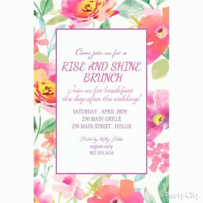 Blissful Brunch Invite Idea