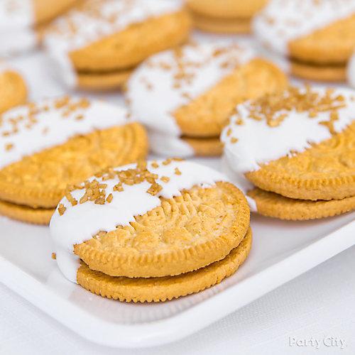 Bridal Shower Gold Cookies Idea