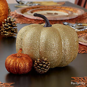 Shimmer Pumpkins Centerpiece Idea