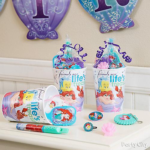 Little Mermaid Favor Cup Idea