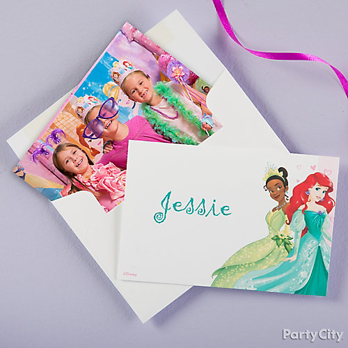 Disney Princess Thank You Note Idea