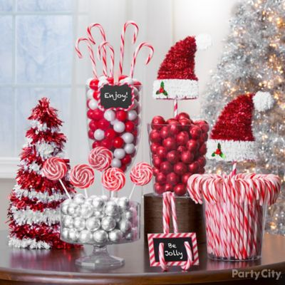 Candy Cane Christmas Treats and Decor Ideas