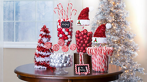 Candy Cane Stairway Decor Idea Party City
