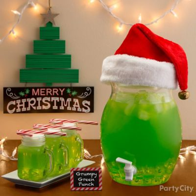 Green Grumpy Holiday Punch How To